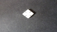 13.5 x 10.5 mm Mother of Pearl Diamond with Cuts. ( Handcut)