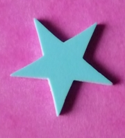 15mm Turquoise Star