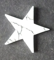 15mm White Turquoise Star.