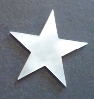 25mm White MOP Star