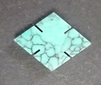 14mm x 11 Chinese Green Turquoise Diamond with Cuts (Handcut)