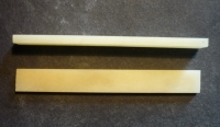 Unbleached Bone Saddle 85 x 10 x 3.5 mm